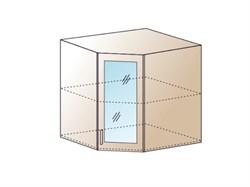 Шкаф верхний угловой со стеклом 590