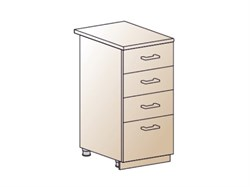 Шкаф нижний с 4 ящиками 400 - фото 4550