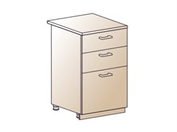 Шкаф нижний с 3 ящиками 500 - фото 4559