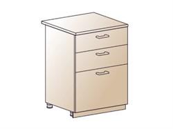 Шкаф нижний с 3 ящиками 600 - фото 4570