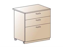 Шкаф нижний с 3 ящиками 800 - фото 4583