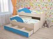 кровать Радуга 2х-спальная выдвижная